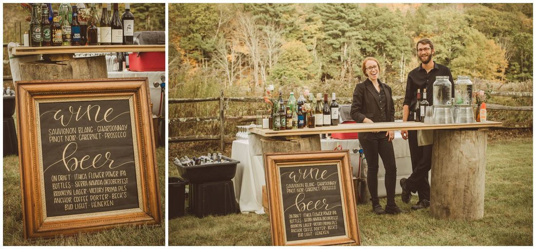 rustic bar, wedding, wooden stump bar