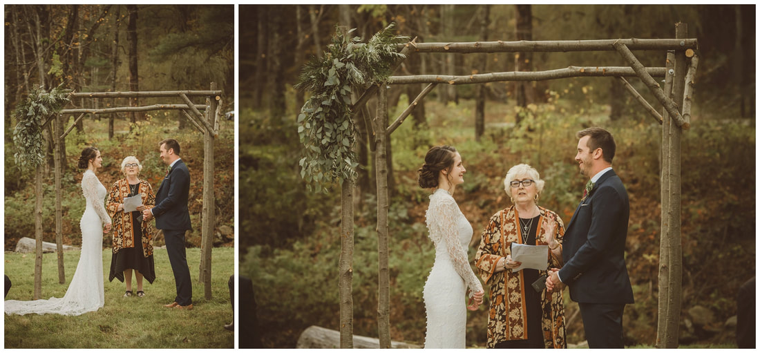 outdoor wedding ceremony, berkshires ma, massachusetts
