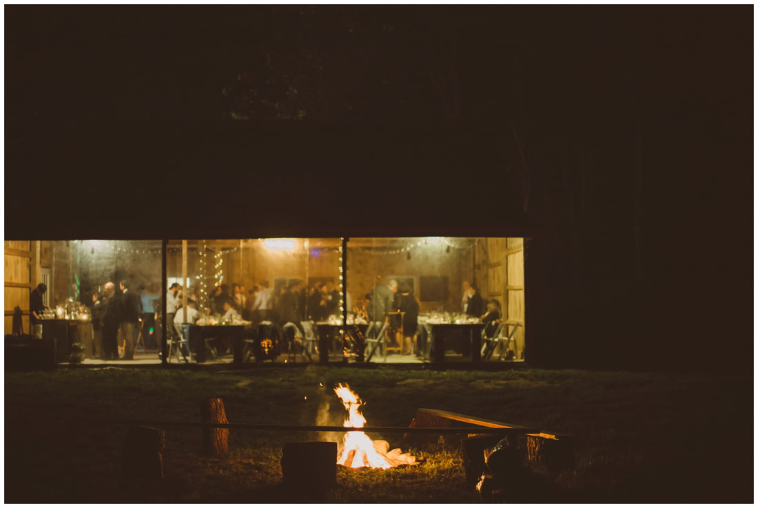 barn wedding, bonfire, new york, ny