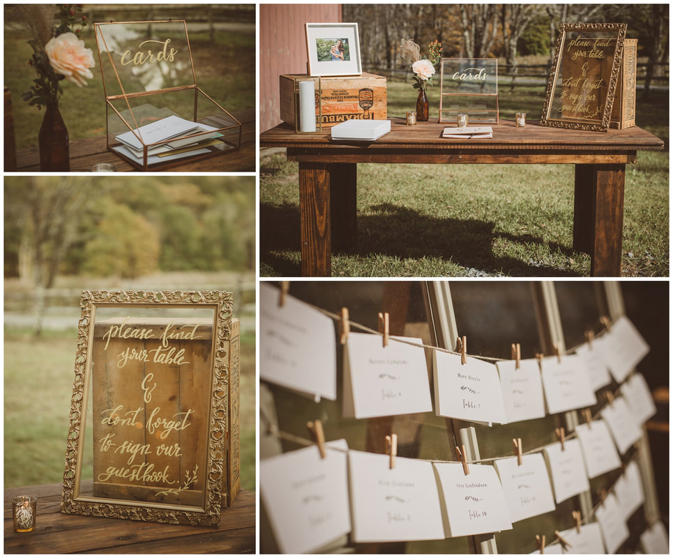 barn wedding details, handmade, diy