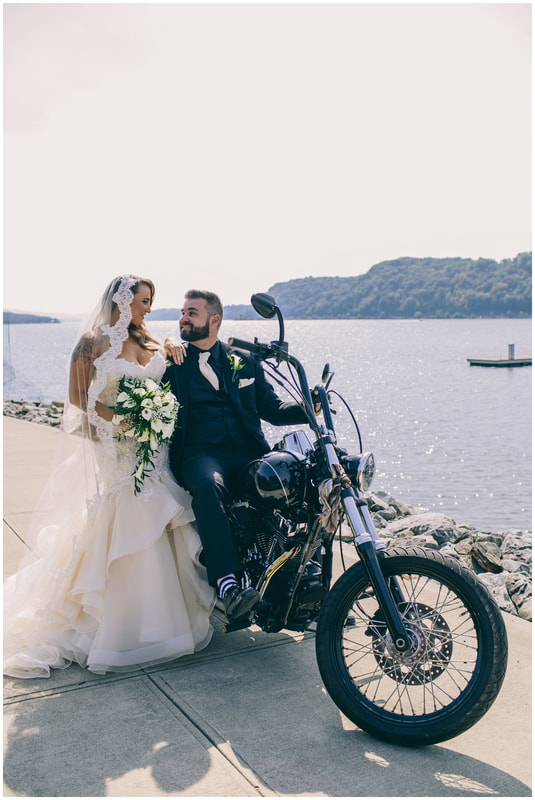 the granview, wedding photographer, motorcycle